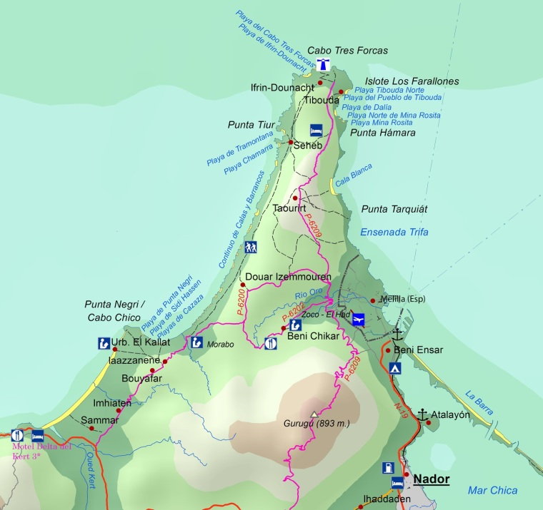 mapa Cabo